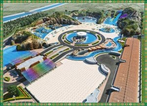 The Awaza Aqua Park will include aquariums and underwater restaurants