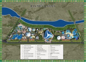Map of the facilities in the Awaza Project
