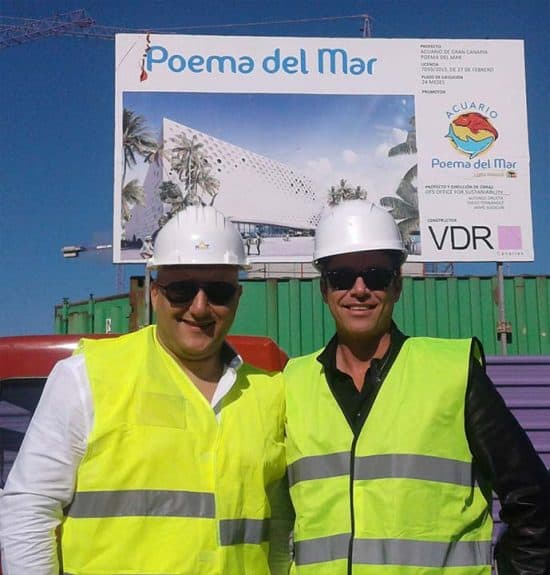 Erdem Akartepe at Poema del Mar Aquarium Construction Site