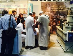 People visiting MAT LSS AquaME 2015 booth