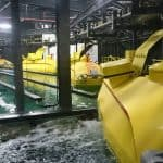 The submarines of the Atlantis Ride Aquarium