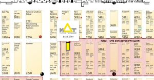 The floorplan of the Attractions Expo in Orlando
